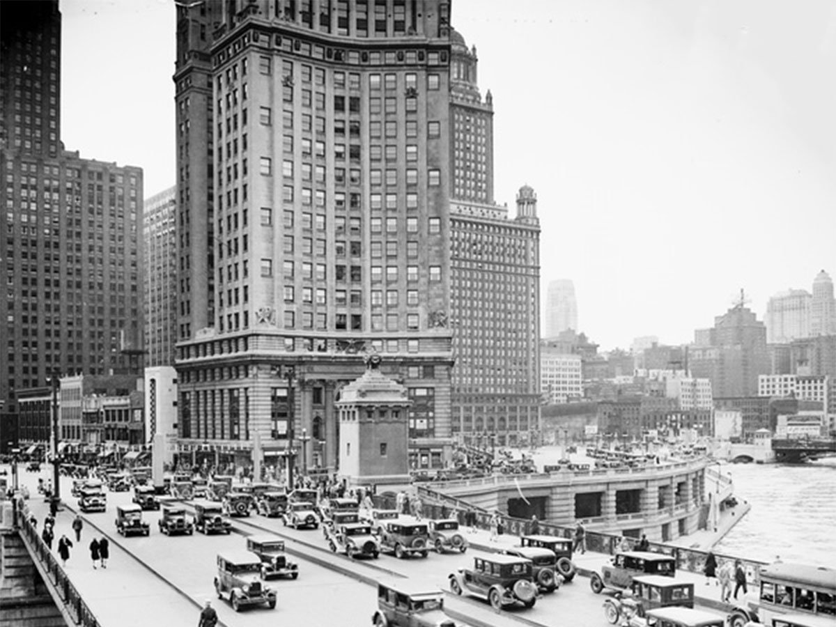 Michigan Avenue Bridge, 1929