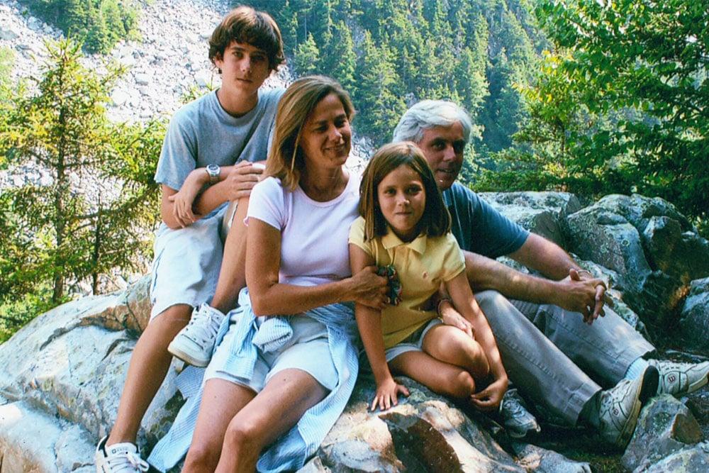 Merrill, wife Zo Anne, son Will, and daughter Ella in White Rocks, VT, 2003