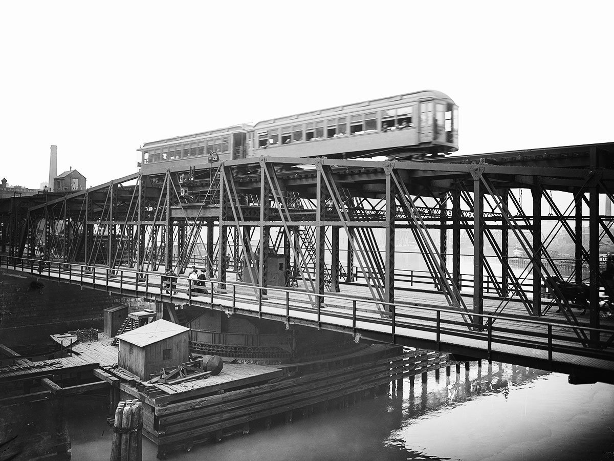 Wells Street Bridge, 1905