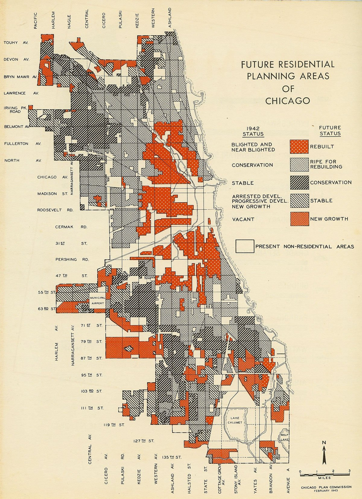 Future Residential Planning Areas of Chicago, 1954