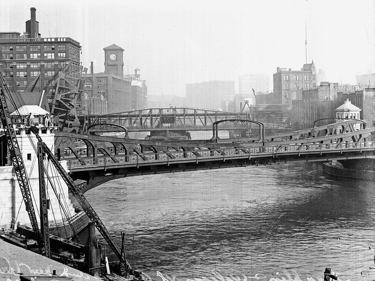Franklin and Orleans Street bascule bridge, 1920