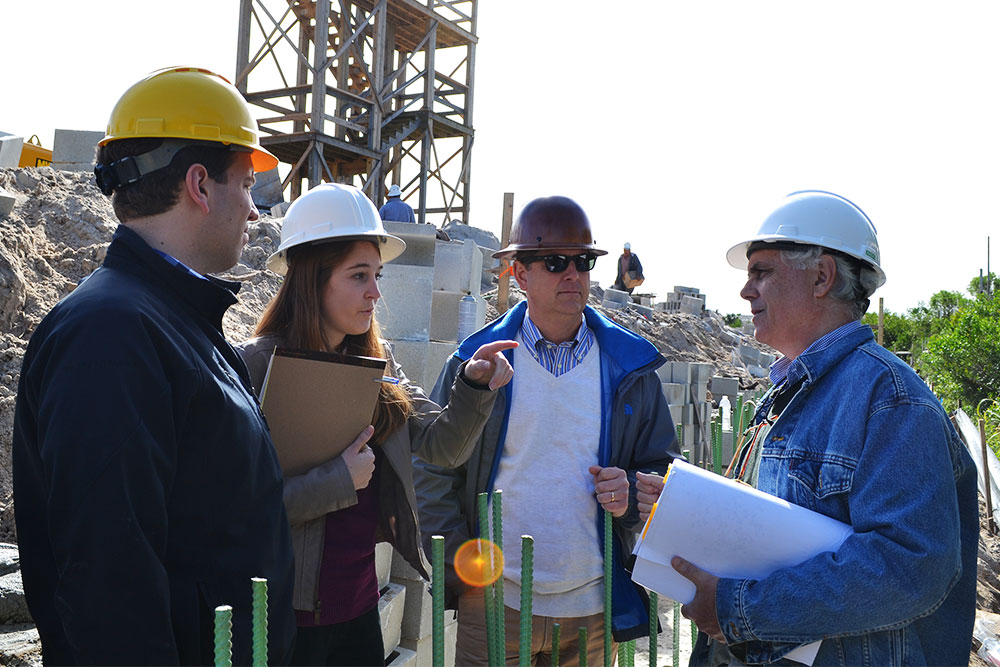 Scott Merrill and staff on site at a project