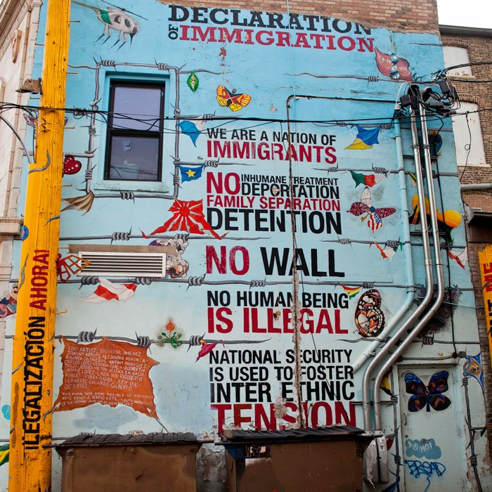 Declaration of Immigration by artist Sal Jimenez with Yollocalli Arts Reach