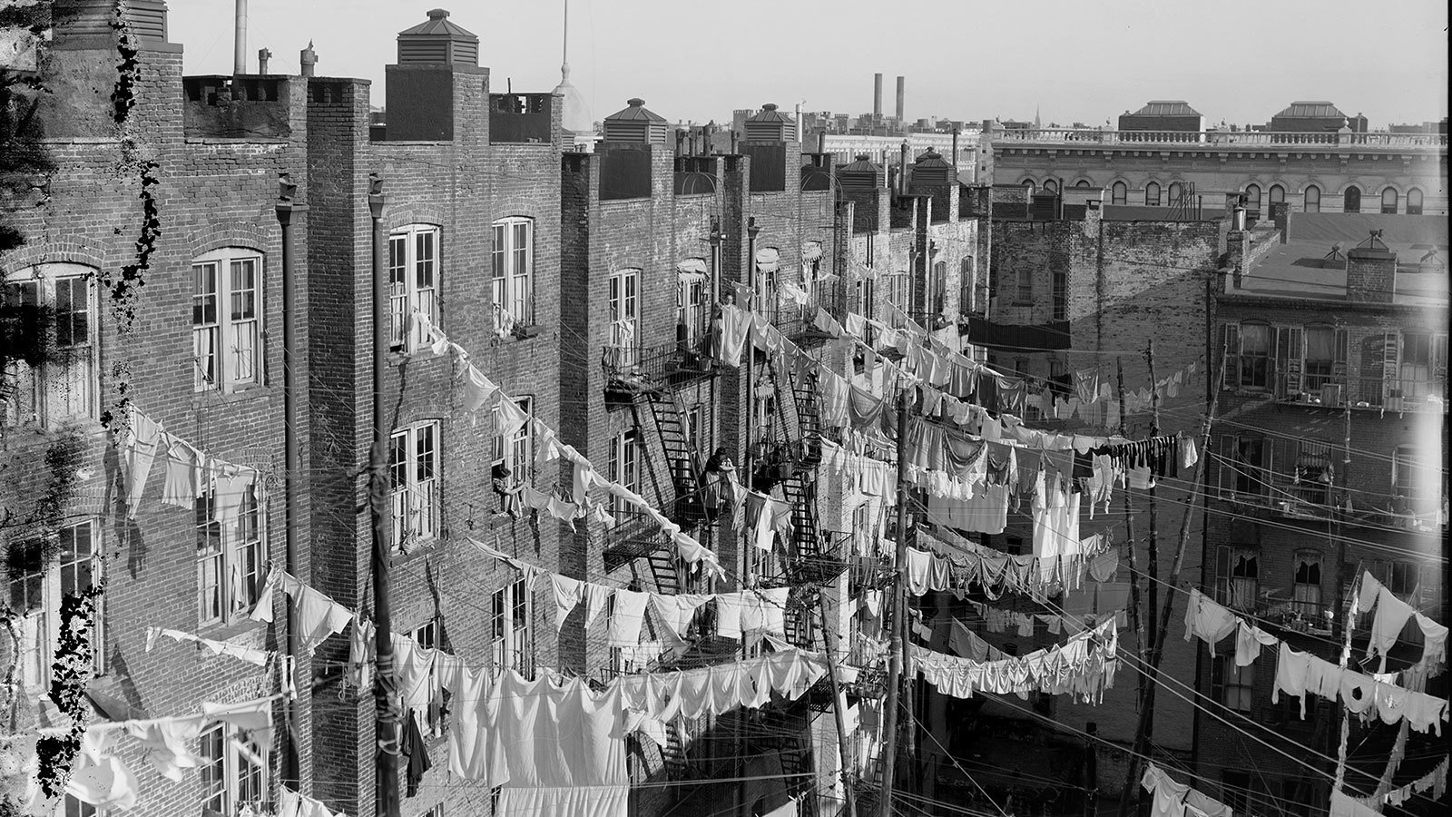 Laundry Dries Between Tenement Buildings Photo Credit Library Of Congress