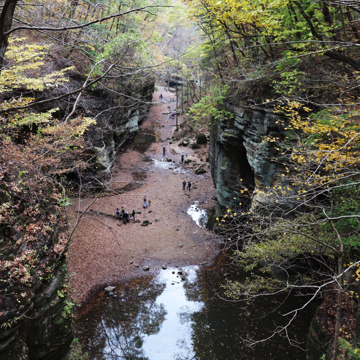 A canyon in Matthiessen State Park in Oglesby, Illinois