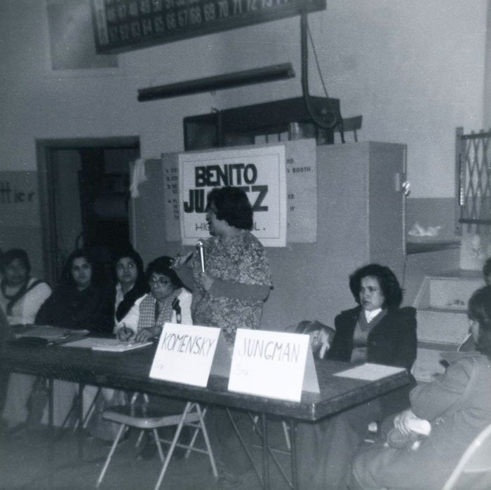 Benito Juarez High School planning meeting, circa 1973-1977