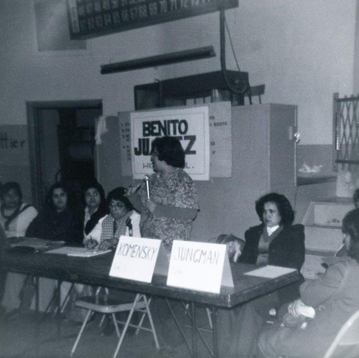 Benito Juarez High School planning meeting, circa 1973-1977