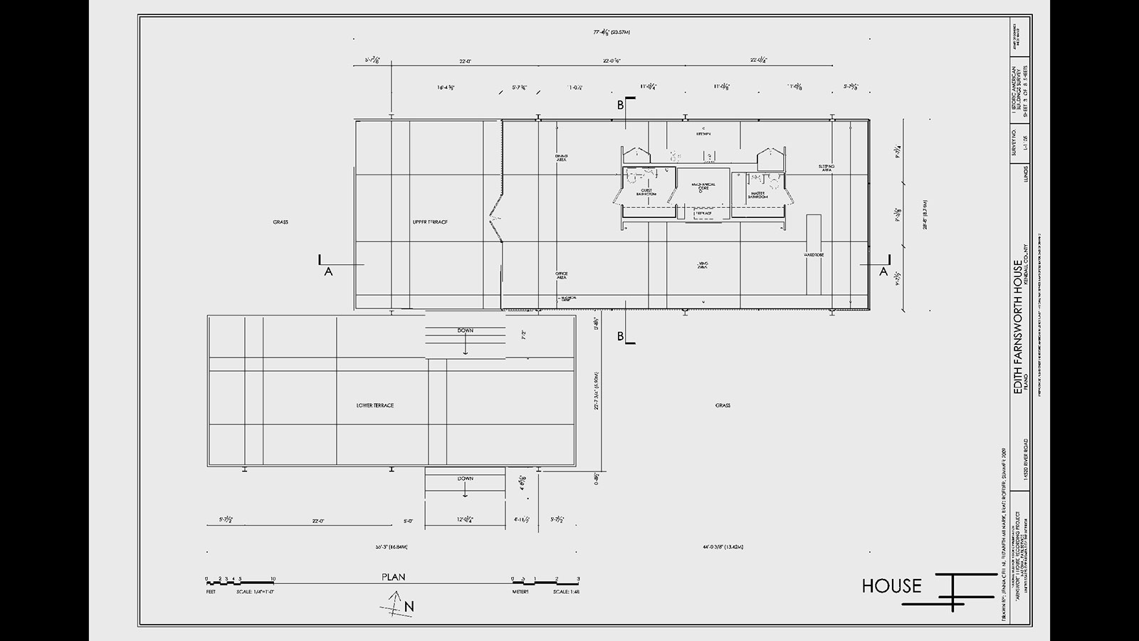 The farnsworth house wttw chicago public media for Farnsworth house floor plan