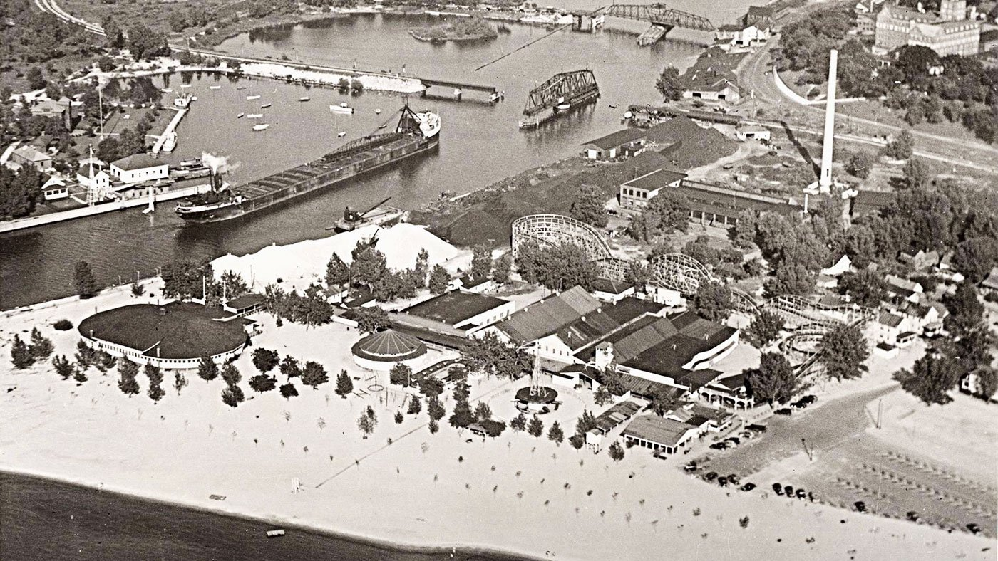 Silver Beach Amusement Park in 1941