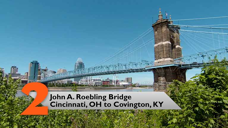 John A. Roebling Bridge, Cincinnati, OH to Covington, KY
