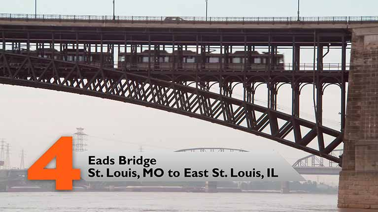 Eads Bridge, St. Louis, MO to East St. Louis, IL