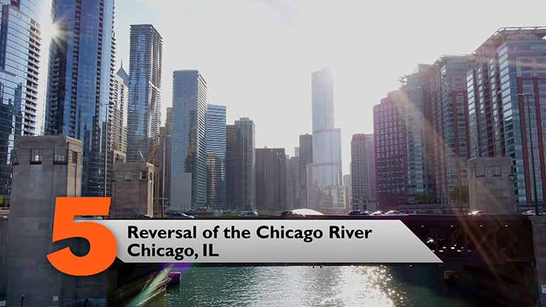 Reversal of the Chicago River, Chicago, IL