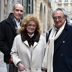 Architects Marc and Nada Breitman with Geoffrey Baer
