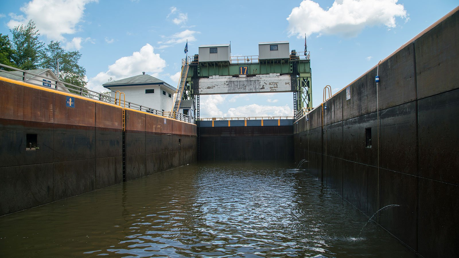 Lock 17 along the Erie Canal in Little Falls, New York, in 2017