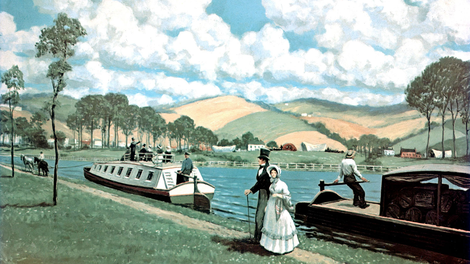Erie Canal painting