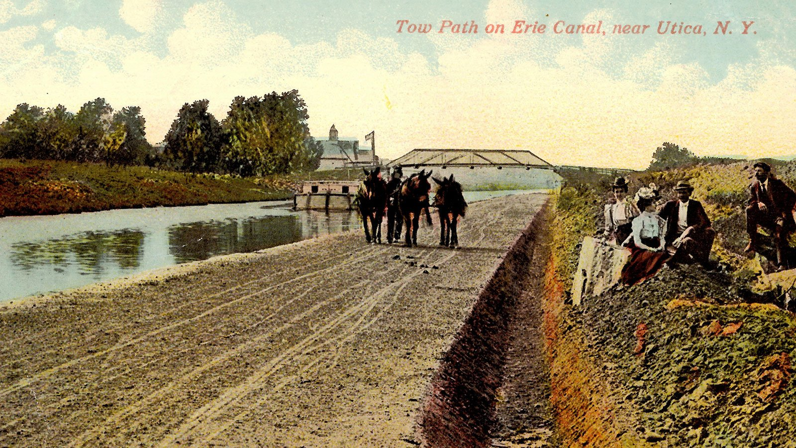 Towpath on Erie Canal, near Utica, N.Y.