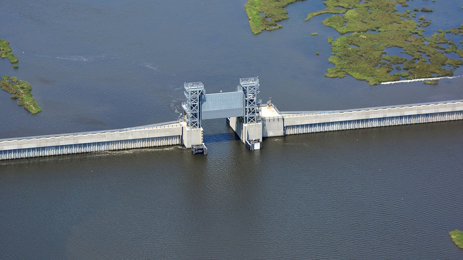 A navigation gate at the Inner Harbor Navigation Canal Lake Borgne Surge Barrier