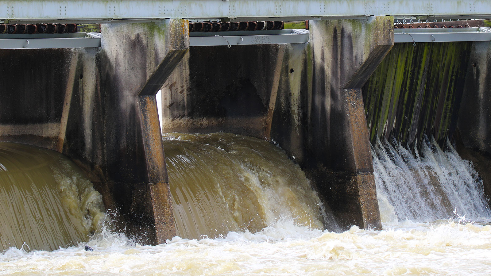 The Bonnet Carré Spillway flood structure in St. Charles Parish