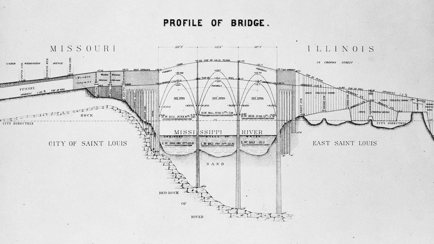Eads bridge technical drawing