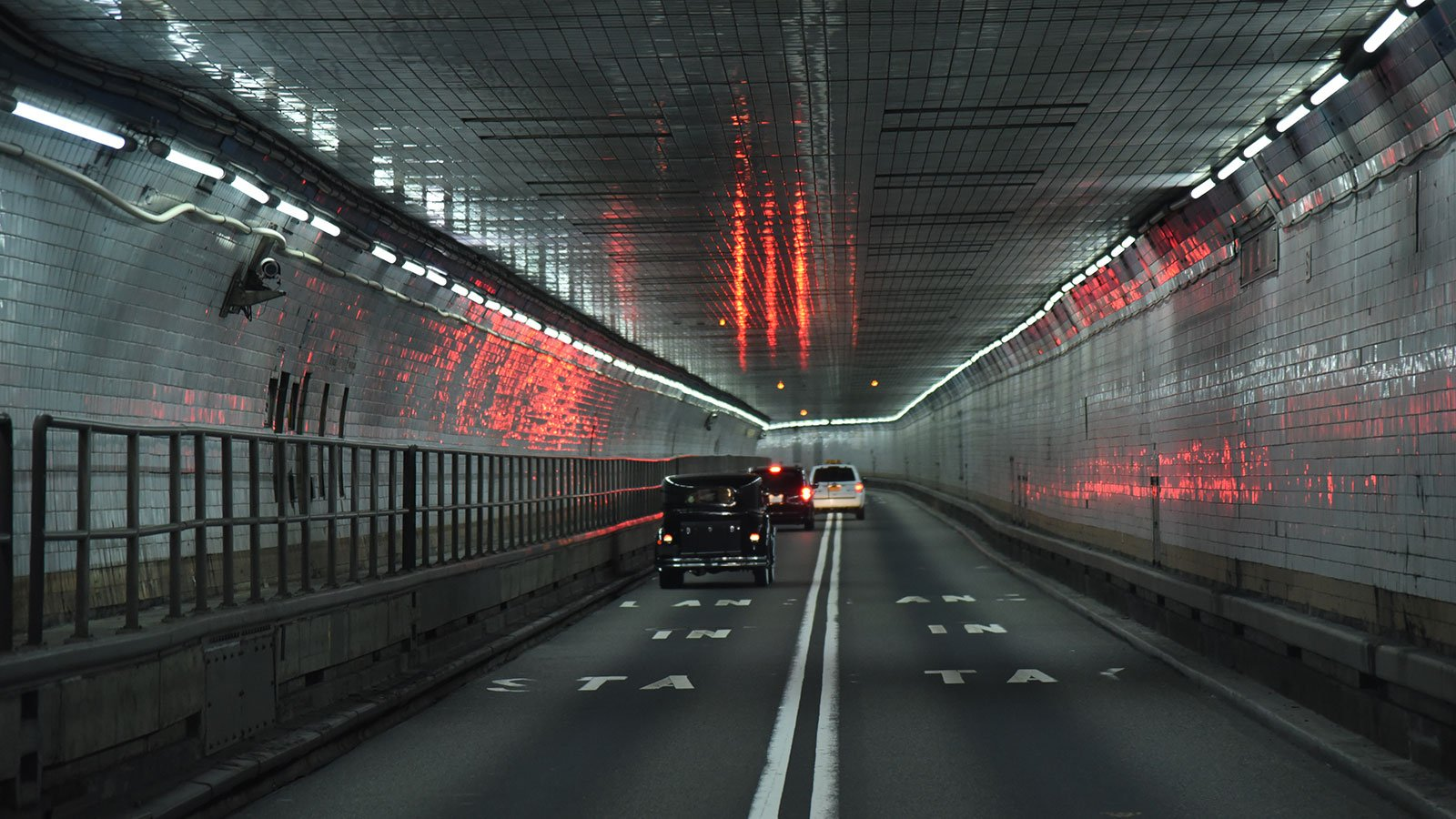 The inside of the Holland Tunnel, 2017