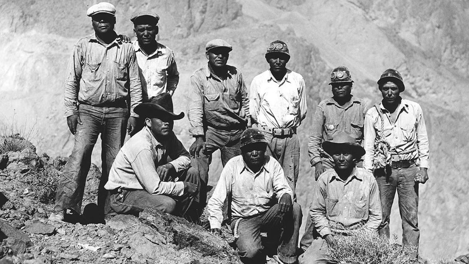 [Native Americans] employed on the construction of Hoover Dam as high scalers