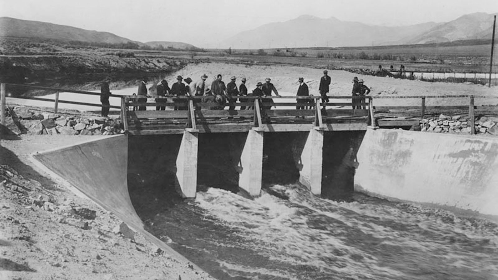 The Owens River flowing into the Los Angeles Aqueduct