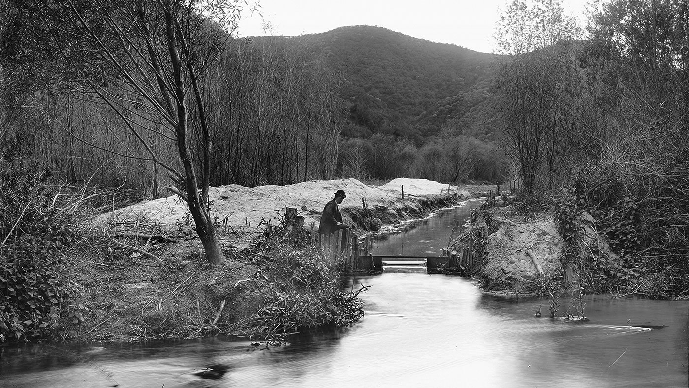Los Angeles River at Griffith Park, circa 1898-1910