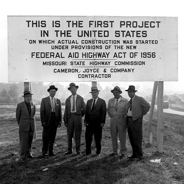 Six of the people involved in one of the nation's first interstate projects on Interstate 70 in St. Charles, Missouri