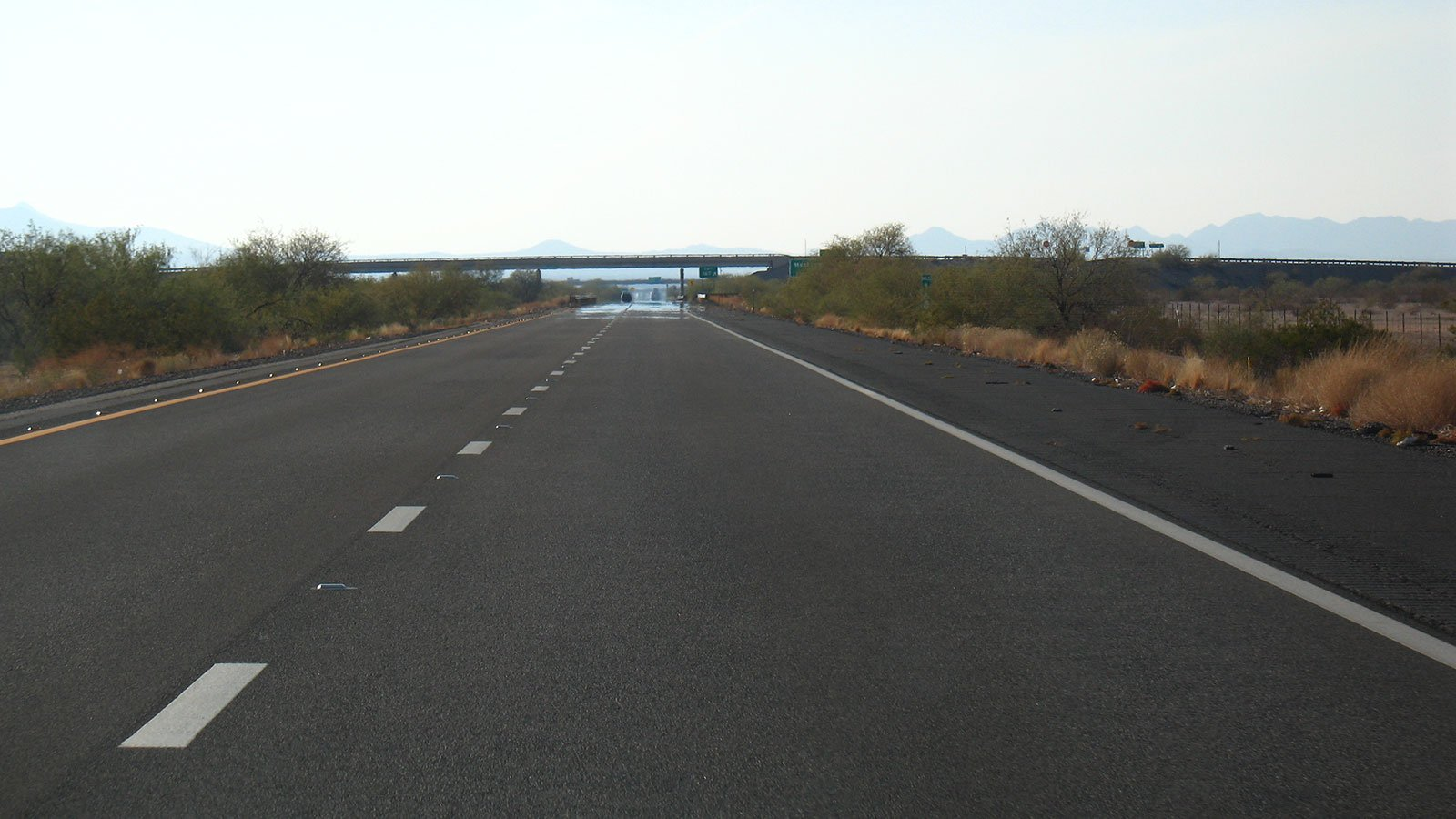 Westbound on Interstate 8