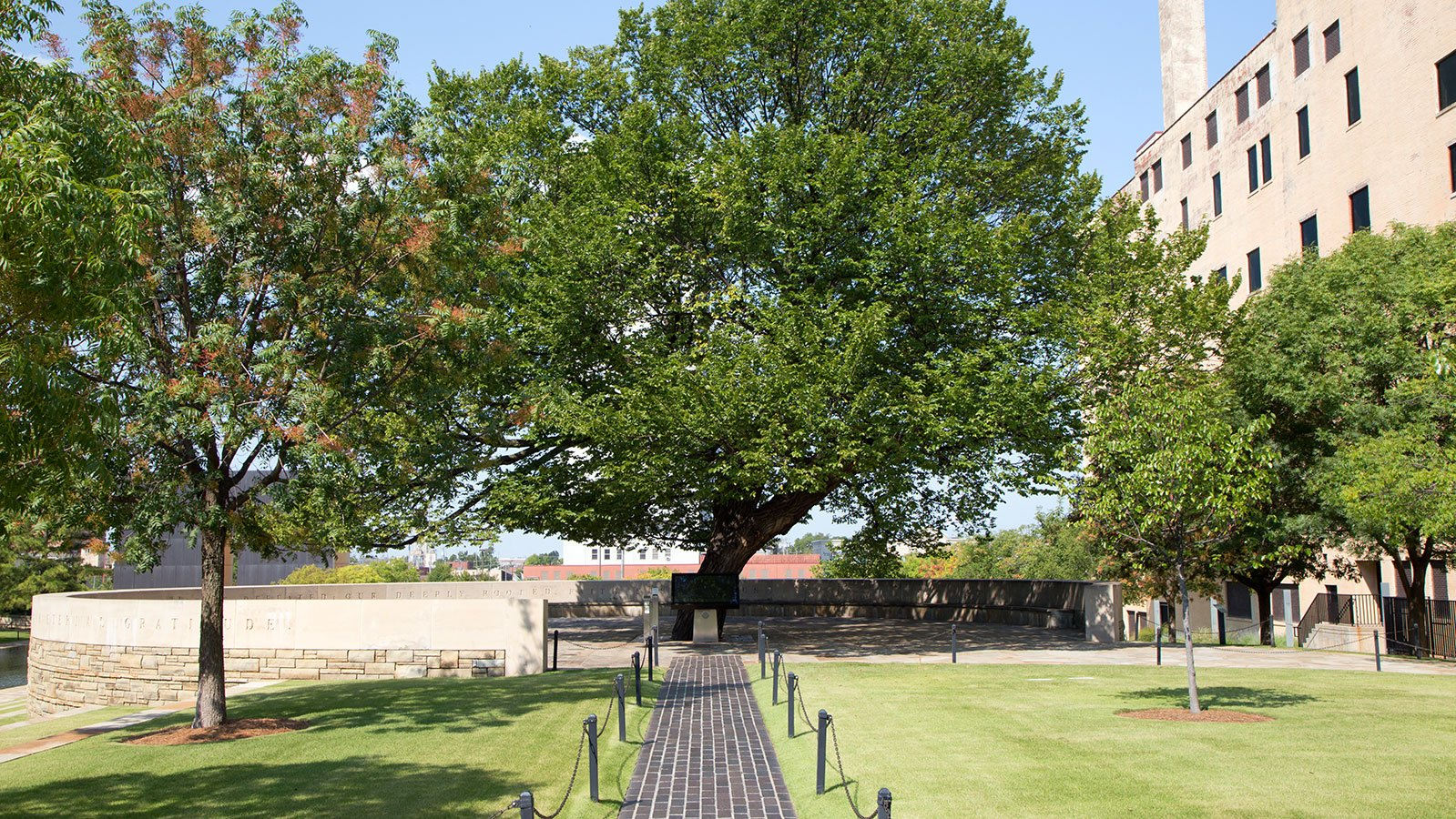 The Survivor Tree, an American elm, withstood the full force of the 1995 attack. It came to be a living symbol of the resilience of the survivors of the Oklahoma City bombing