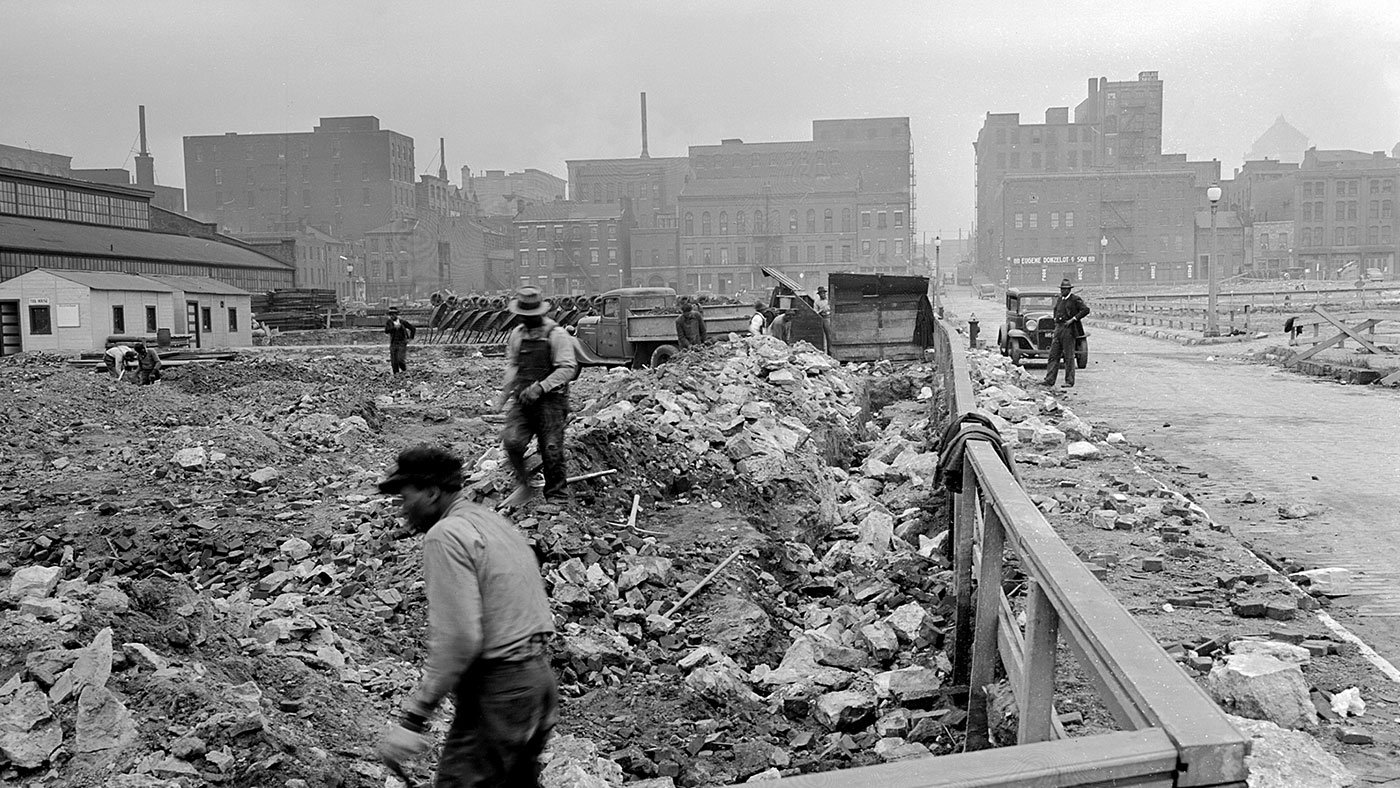 Demolition in St. Louis, 1941