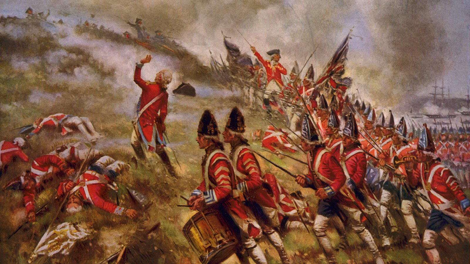 Battle of Bunker Hill, painted by E. Percy Moran
