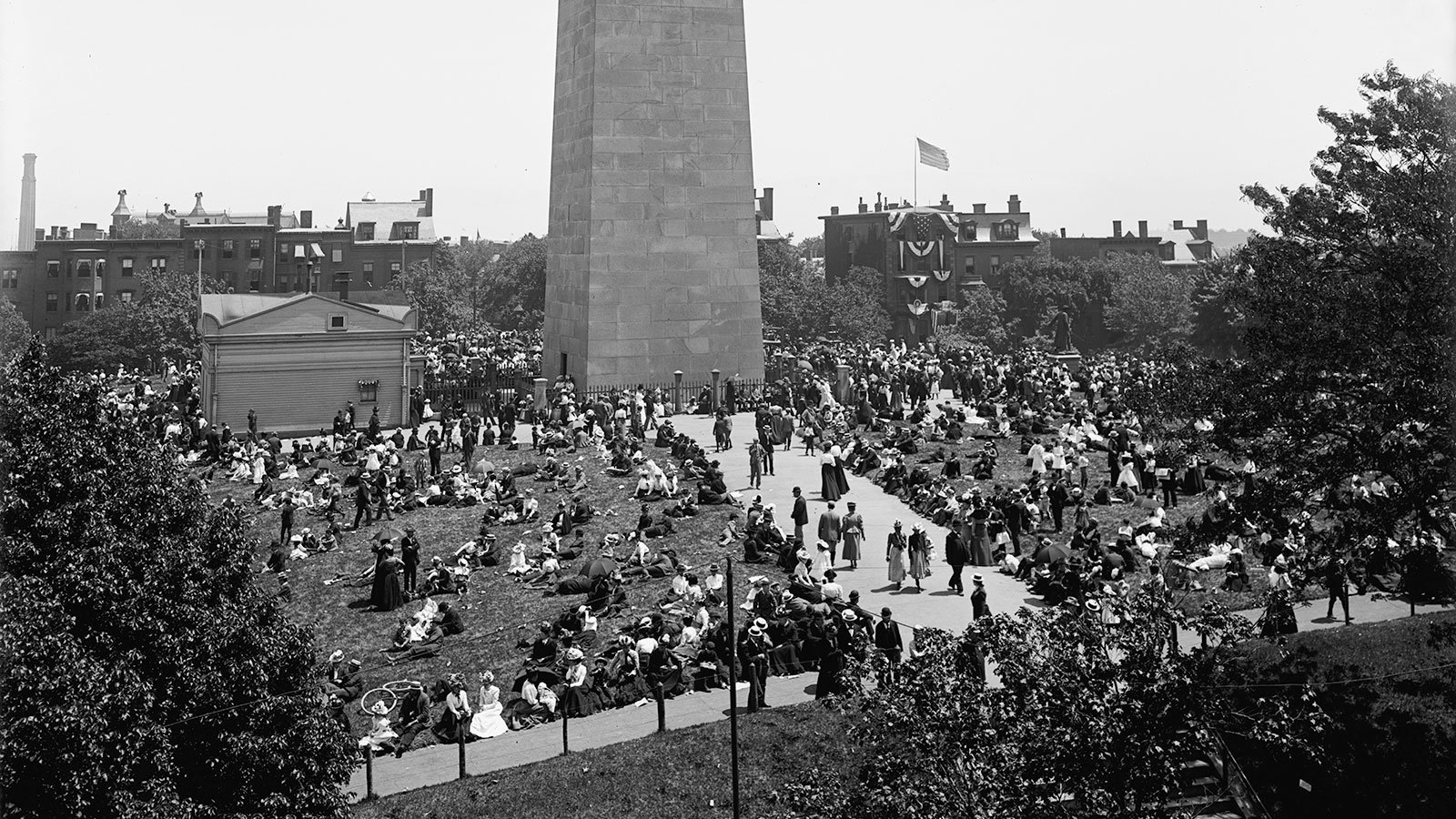 The Bunker Hill Monument on Bunker Hill Day, published by the Detroit Publishing Co.