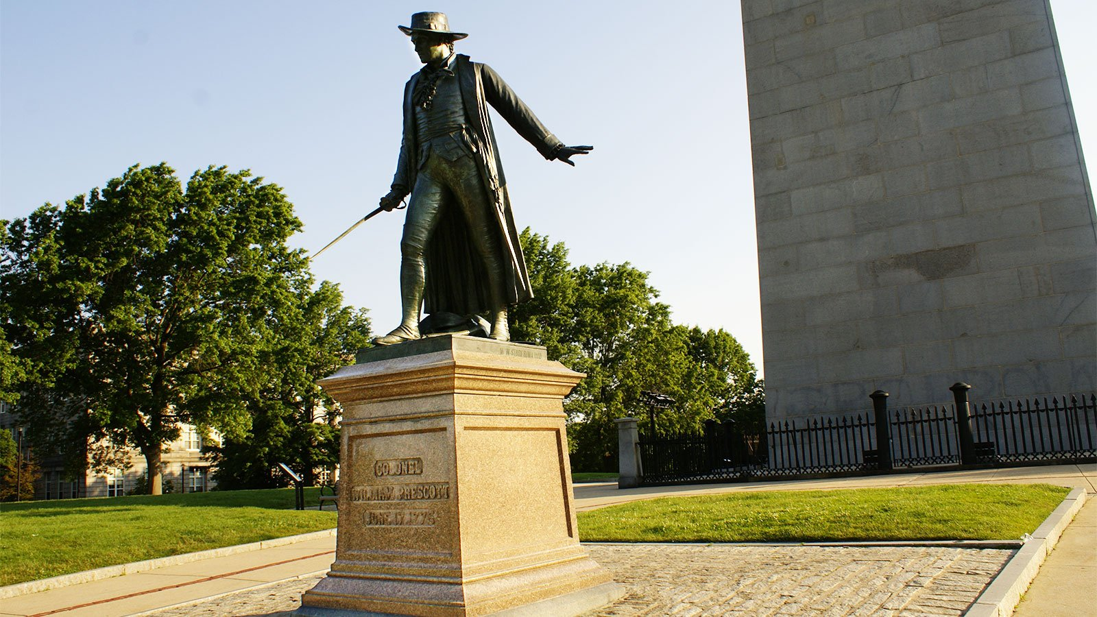 statue of Col. William Prescott