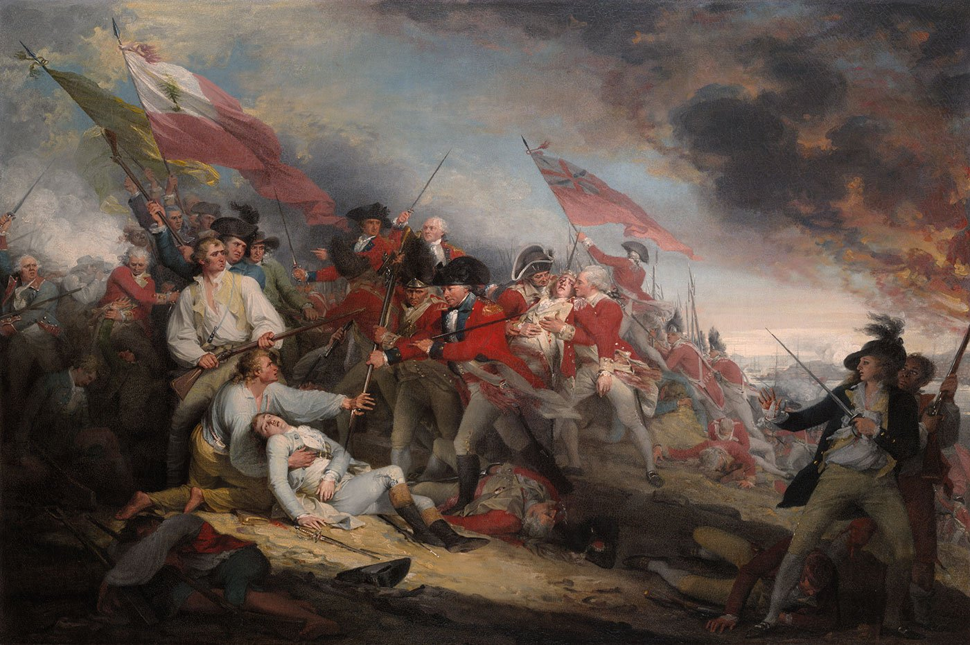 The Battle of Bunker Hill painting by John Trumbull