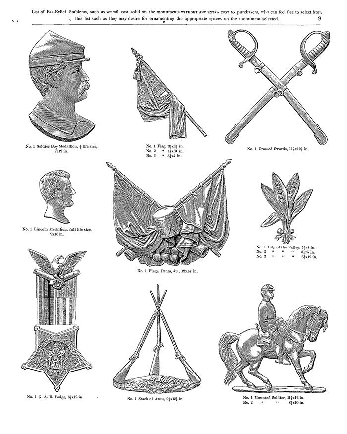 Image from an 1882 Monumental Bronze Co. catalog