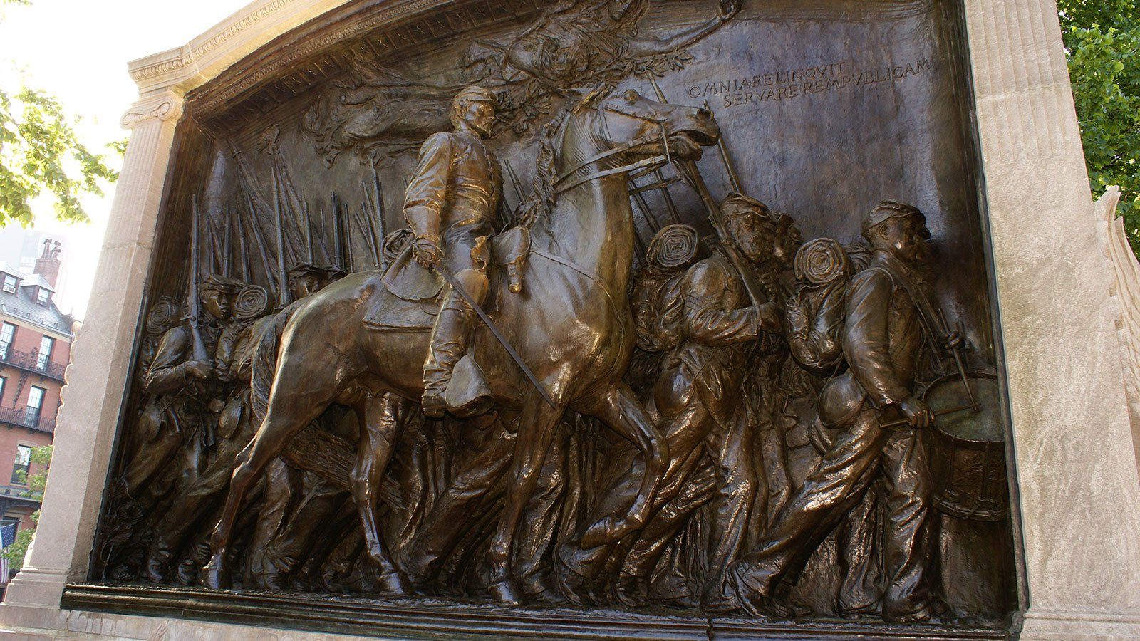 Memorial to Robert Gould Shaw and the Fifty-Fourth Massachusetts Regiment