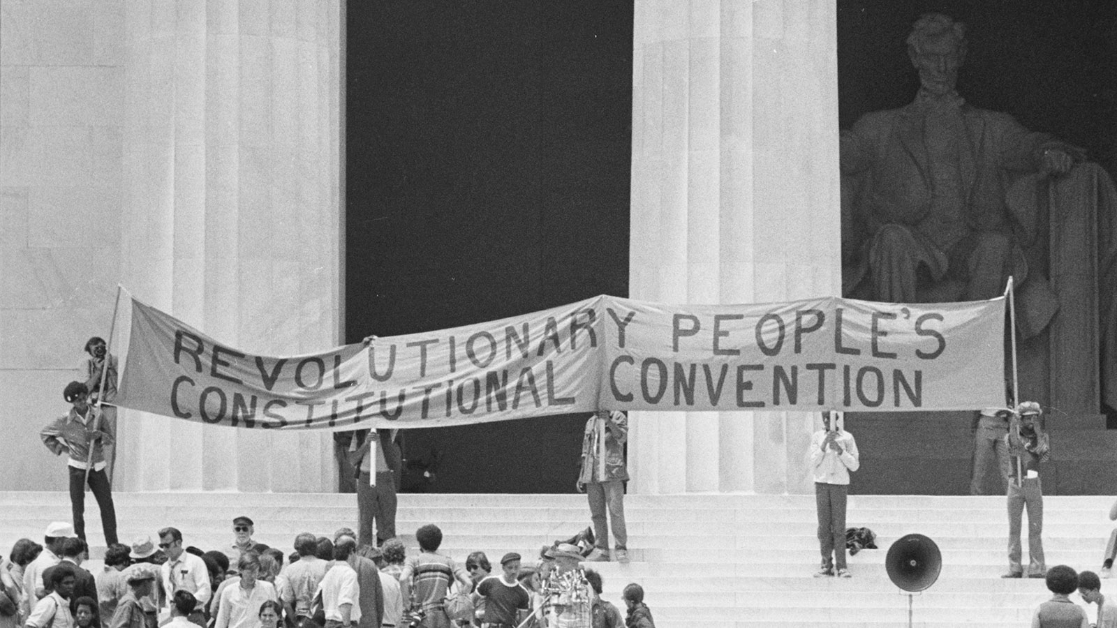 evolutionary People's Constitutional Convention at the Lincoln Memorial on June 19, 1970