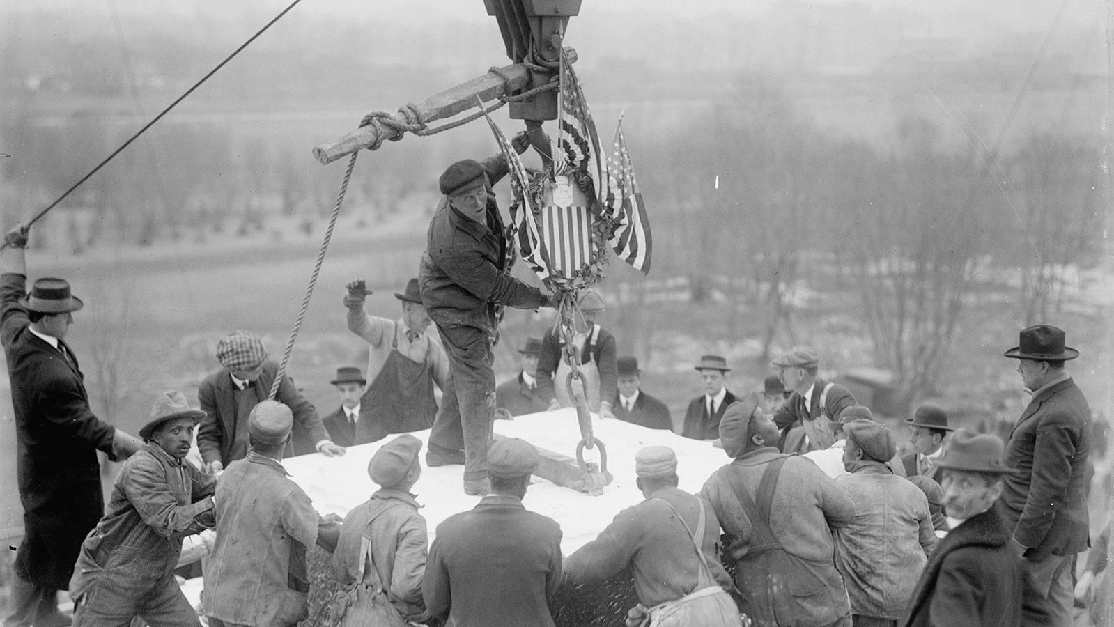 laying of the cornerstone for the Lincoln Memorial