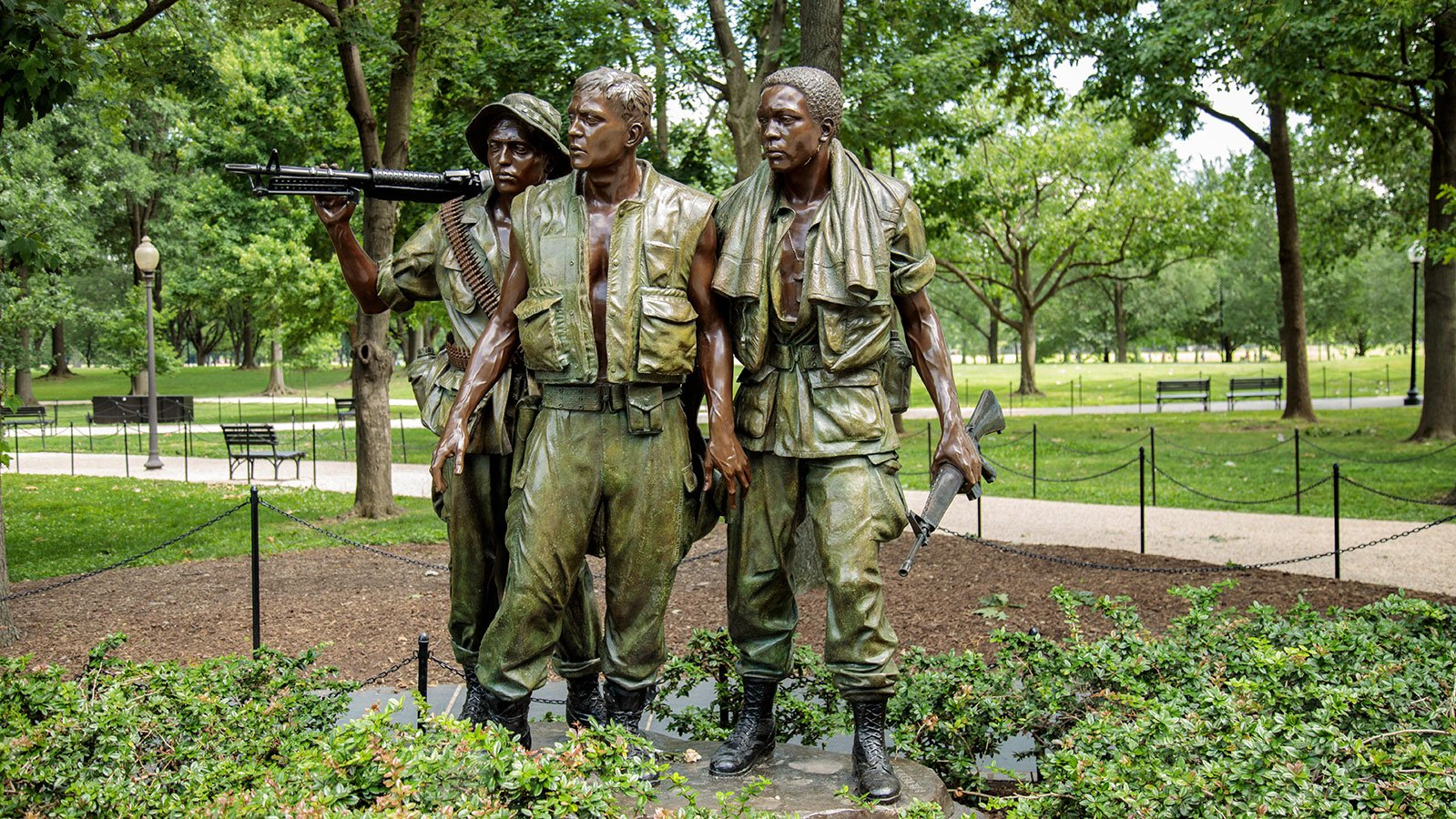 The Three Servicemen statue