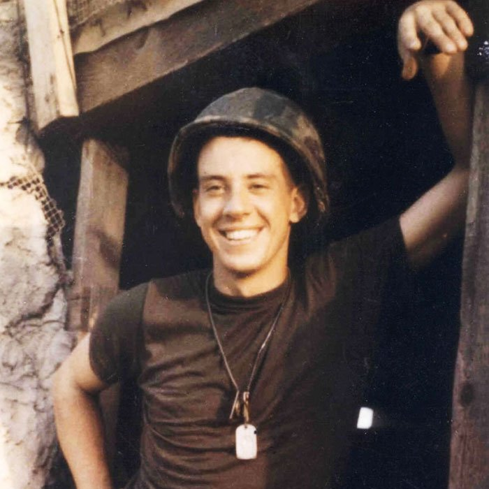 Jan Scruggs in Vietnam, circa 1970