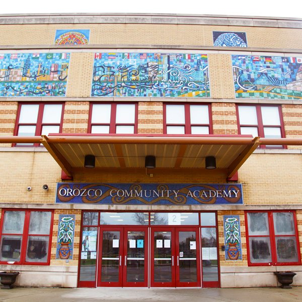 Front of Orozco Community Academy.
