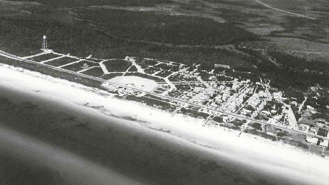 Seaside aerial
