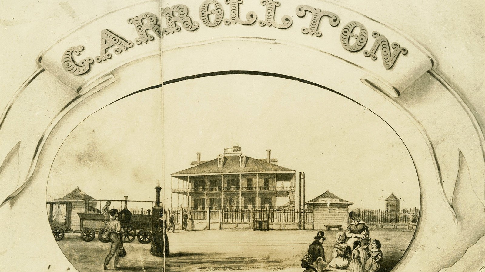 drawing of the Carrolton Hotel