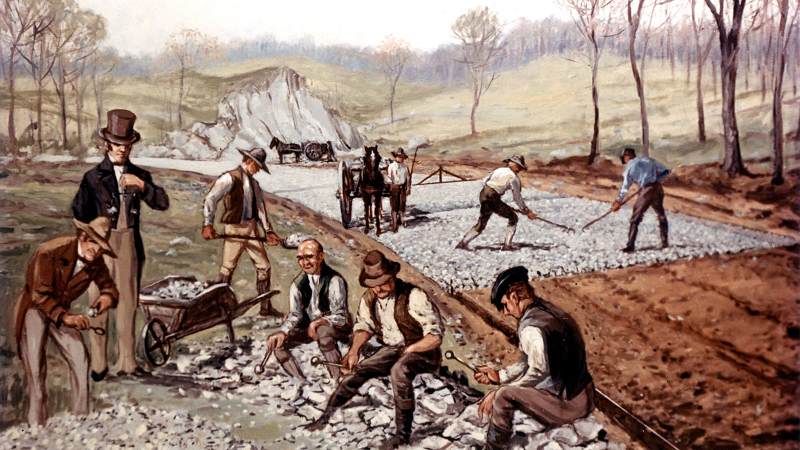 1823 – First American Macadam Road