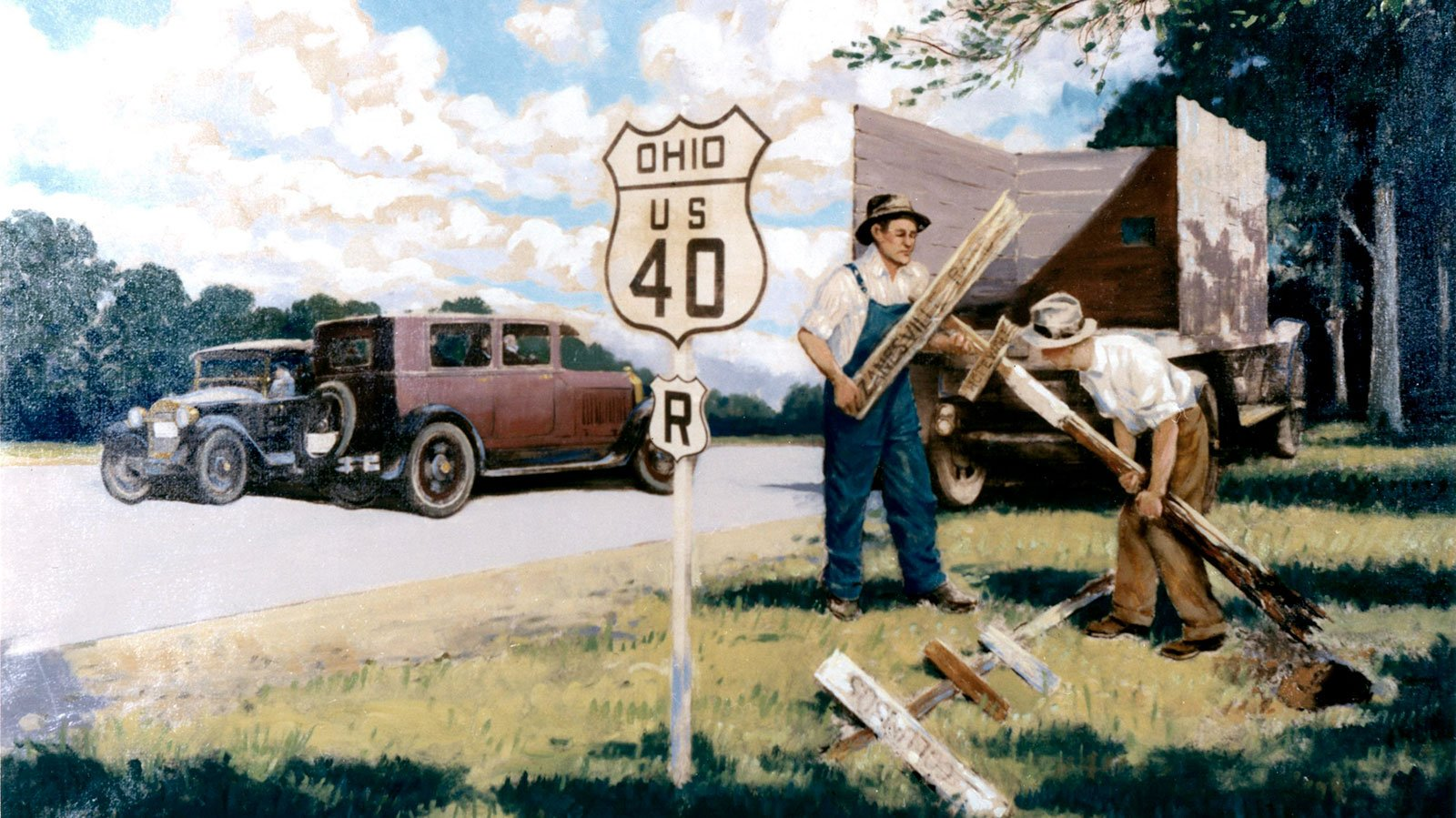 1925 – Adoption of Uniform Signs painting