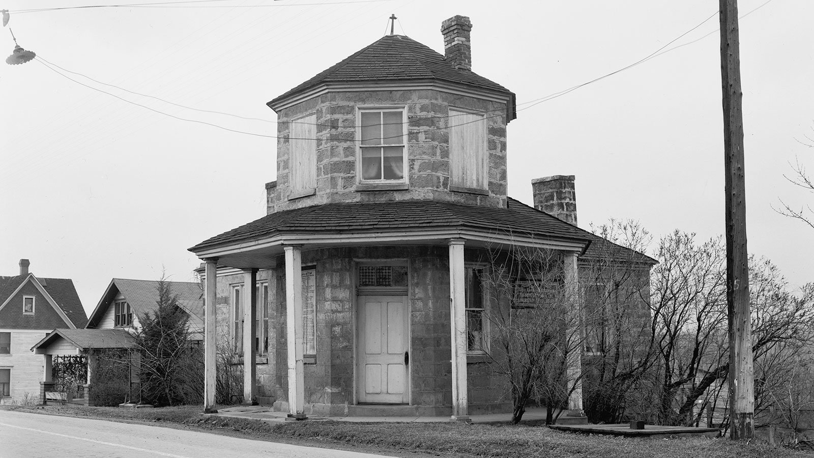 A toll house on the National Road