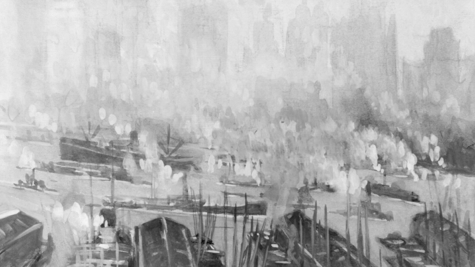 painting of Brooklyn Harbor