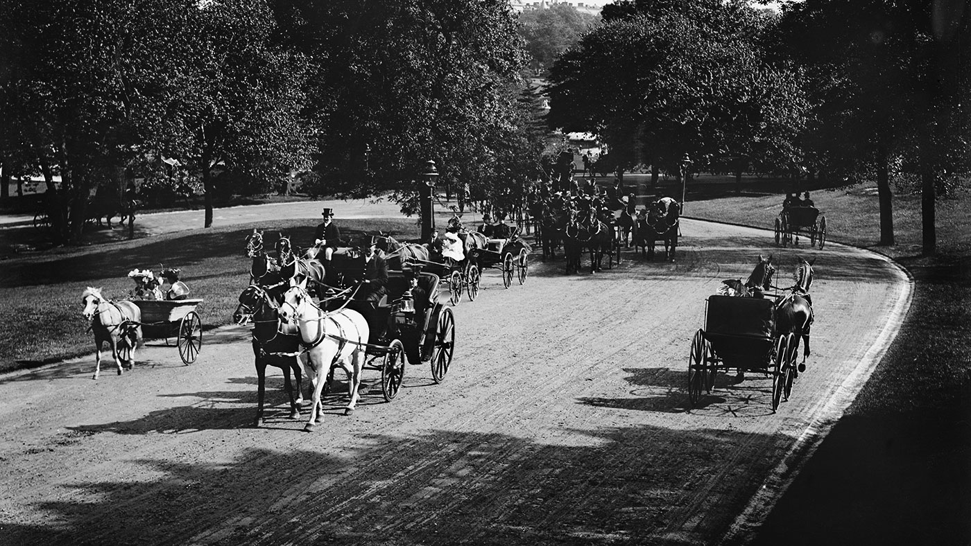 An Afternoon Procession on the Driveway, Central Park, New York