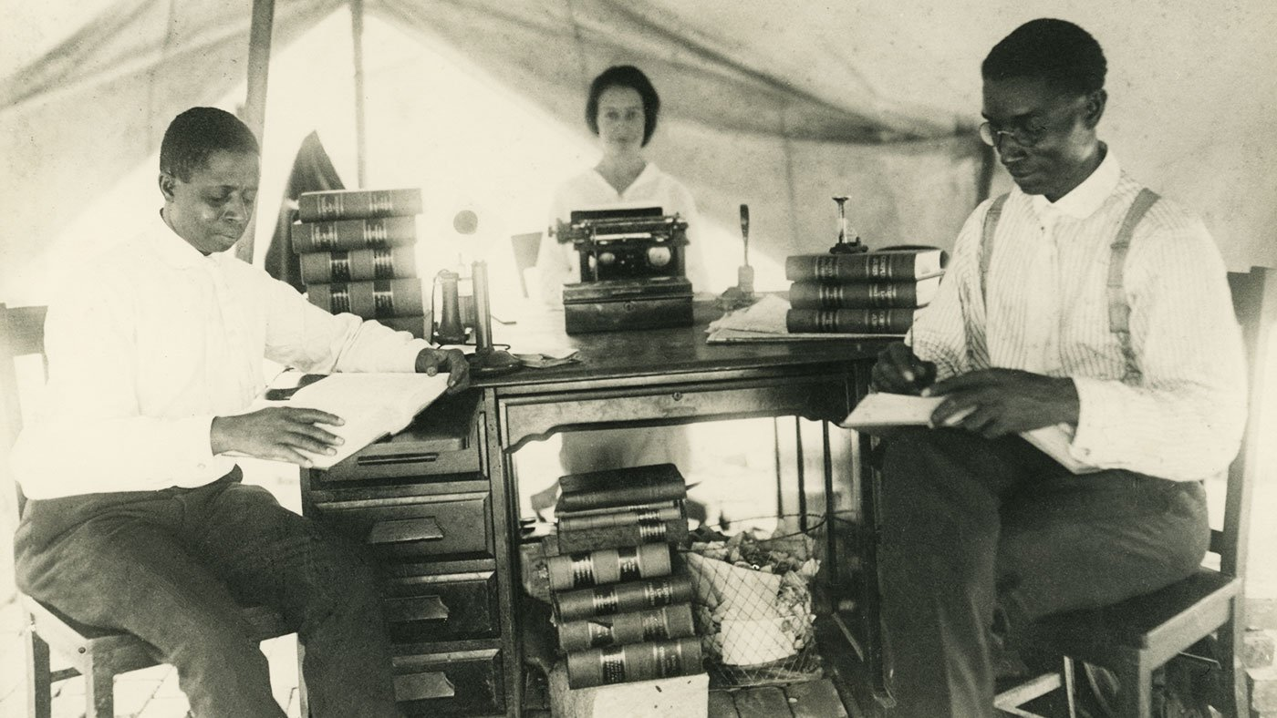 temporary law office set up in a tent following the Tulsa Race Riot